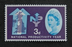 David Gentleman's first stamp design