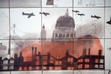 Detail from history of London mural