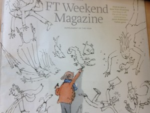 FT Magazine cover © Quentin Blake
