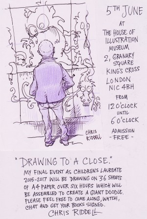 Drawing to a Close © Chris Riddell