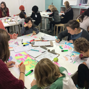 Family Illustration Workshops in BSL and spoken English © Christopher Sacre 4