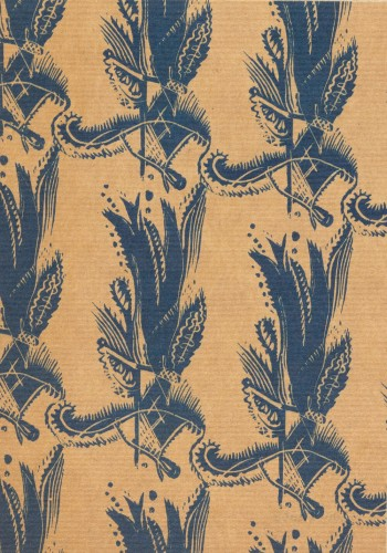 Fiesta pattern paper for the Little Gallery, from wood engraving, c1930 © Estate of Enid Marx