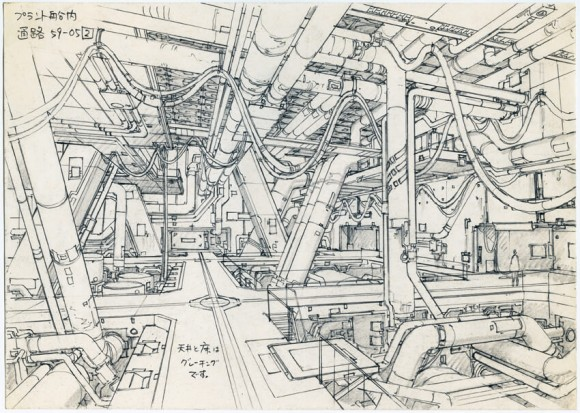 Concept Design for Ghost in the Shell 2: Innocence (2004), pencil on paper, 176 x 250mm, by Takashi Watabe © 2004 Shirow Masamune / KODANSHA · IG, ITNDDTD
