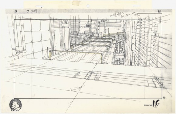 Layout for Ghost in the Shell (1995), cut 509