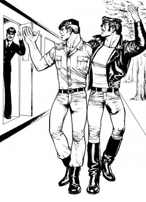 Untitled, from Sex on a Train, 1974 © Tom of Finland, the Tom of Finland Foundation