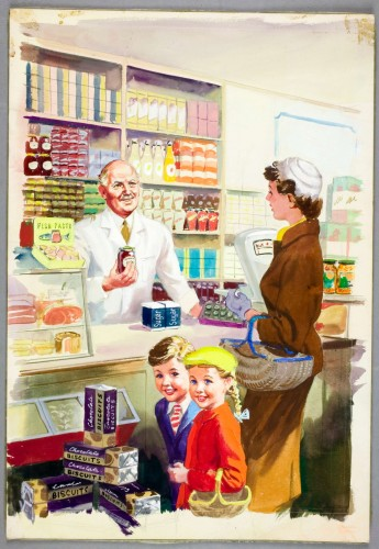 Shopping with Mother, 1958, Harry Wingfield © Ladybird Books Ltd.